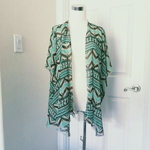 Rue21 Sheer Duster Size M